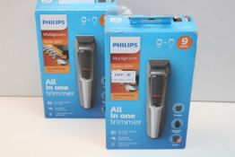 2X BOXED PHILIPS MULTIGROOM 3000 HAIR TRIMMERS COMBINED RRP £120.00Condition ReportAppraisal