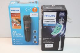 2X BOXED ASSORTED ITEMS BY PHILIPS TO INCLUDE SONICARE 2100 DAILY CLEAN TOOTHBRUSH & MULTIGROOM