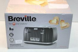BOXED BREVILLE IMPRESSIONS BLACK 4 SLICE TOASTER MODEL: VTT476 RRP £39.99Condition ReportAppraisal