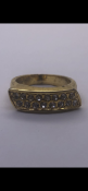 Gold plated ring set with cz stones No Reserve