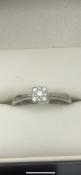 9 carat white gold diamond ringSet with 9 diamonds total carat weight 0.15 Size N