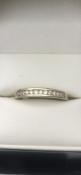 9 carat yellow gold diamond half eternity ring Set with 12 diamondsSize T