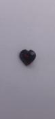 0.5 carat heart shaped red Garnet No Reserve
