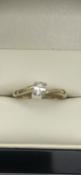 18 carat yellow gold oval diamond solitaire0.23 carat DiamondSize O