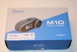 BOXED PARANI MOTORCYCLE BLUETOOTH M10 MOTORCYCLE INTERCOM BY SENA RRP £52.67Condition