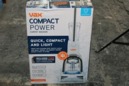 BOXED VAX COMPACT POWER CARPET WASHER MODEL: CWCPV011 RRP £98.99Condition ReportAppraisal
