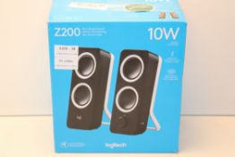 BOXED LOGITECH Z200 10W RICH STEREO SOUND SPEAKERS Condition ReportAppraisal Available on Request-