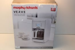 BOXED MORPHY RICHARDS VERVE DIGITAL POUR OVER FILTER COFFEE MACHINE WHITE RRP £59.99Condition