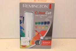 BOXED REMINGTON COLOUR CUT HAIR CLIPPER SET 16 PIECE SET RRP £18.99Condition ReportAppraisal