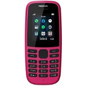 NOKIA 105 IN PINK RRP £17.95Condition ReportAppraisal Available on Request- All Items are