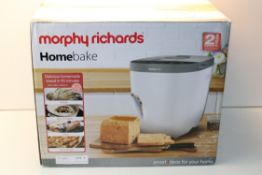 BOXED MORPHY RICHARDS HOMEBAKE BREAD MAKER RRP £57.99Condition ReportAppraisal Available on Request-
