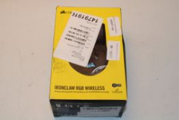 BOXED CORSAIR IRONCLAW RGB WIRELESS WIRELESS RECHARGEABLE GAMING MOUSE WITH SLIPSTREAM RRP £74.