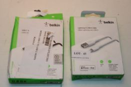 2X BOXED ASSORTED BELKIN CABLE SETS (IMAGE DEPICTS STOCK)Condition ReportAppraisal Available on