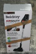 BOXED BELDRAY AIRGILITY CORDLESS HANDHELD VACUUM CLEANER RRP £65.00Condition ReportAppraisal