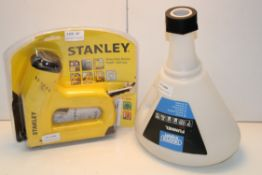 2X ASSORTED ITEMS TO INCLUDE STANLEY HEAVY DUTY ELECTRIC STAPLE/NAIL GUN & DRAPER FUNNEL Condition