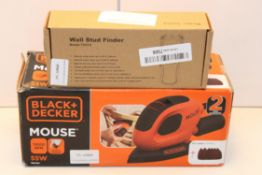 2X BOXED ITEMS TO INCLUDE BLACK & DECKER MOUSE SANDER & WALL STUD FINDERCondition ReportAppraisal