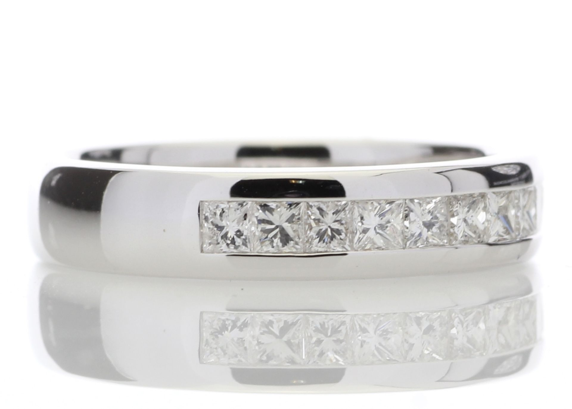18ct White Gold Diamond Channel Set Half Eternity Ring 0.50 Carats - Valued by AGI £1,895.00 - - Image 4 of 4