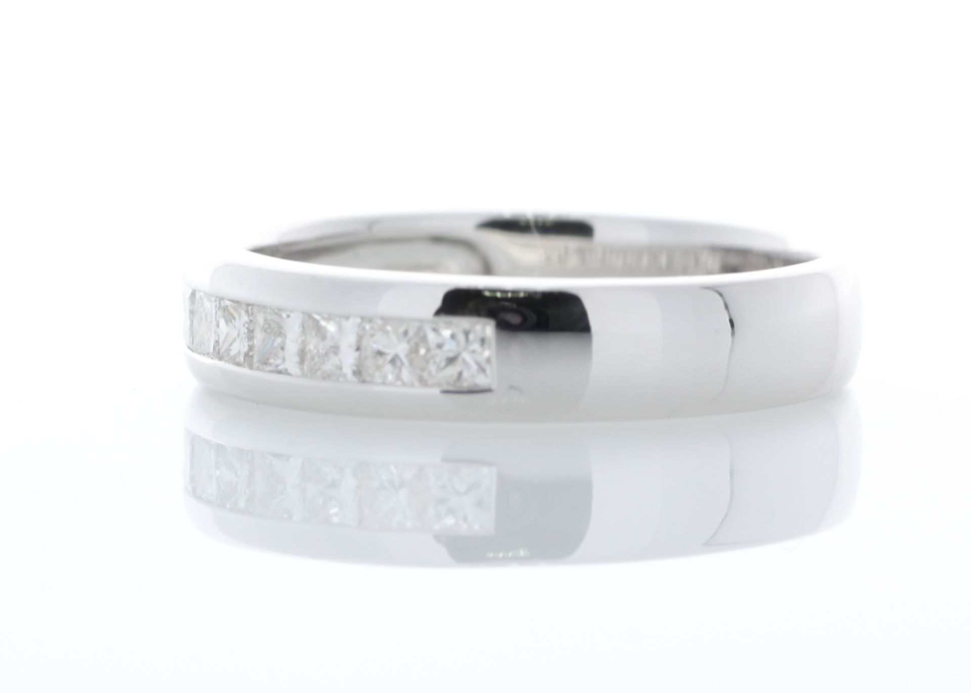 18ct White Gold Diamond Channel Set Half Eternity Ring 0.50 Carats - Valued by AGI £1,895.00 - - Image 2 of 4