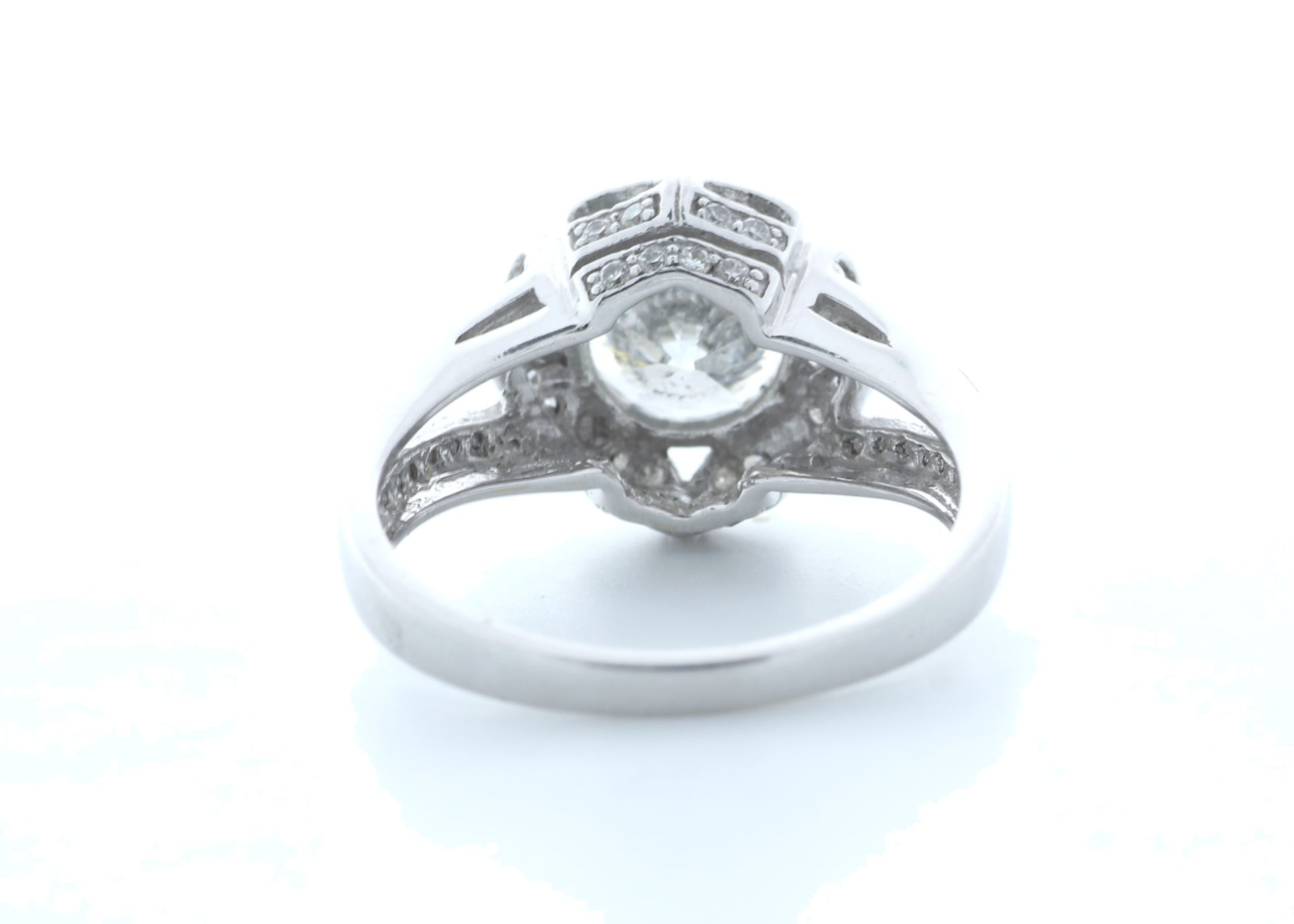 18ct White Gold Single Stone With Halo Setting Ring 2.06 (1.66) Carats - Valued by IDI £36,000. - Image 3 of 5