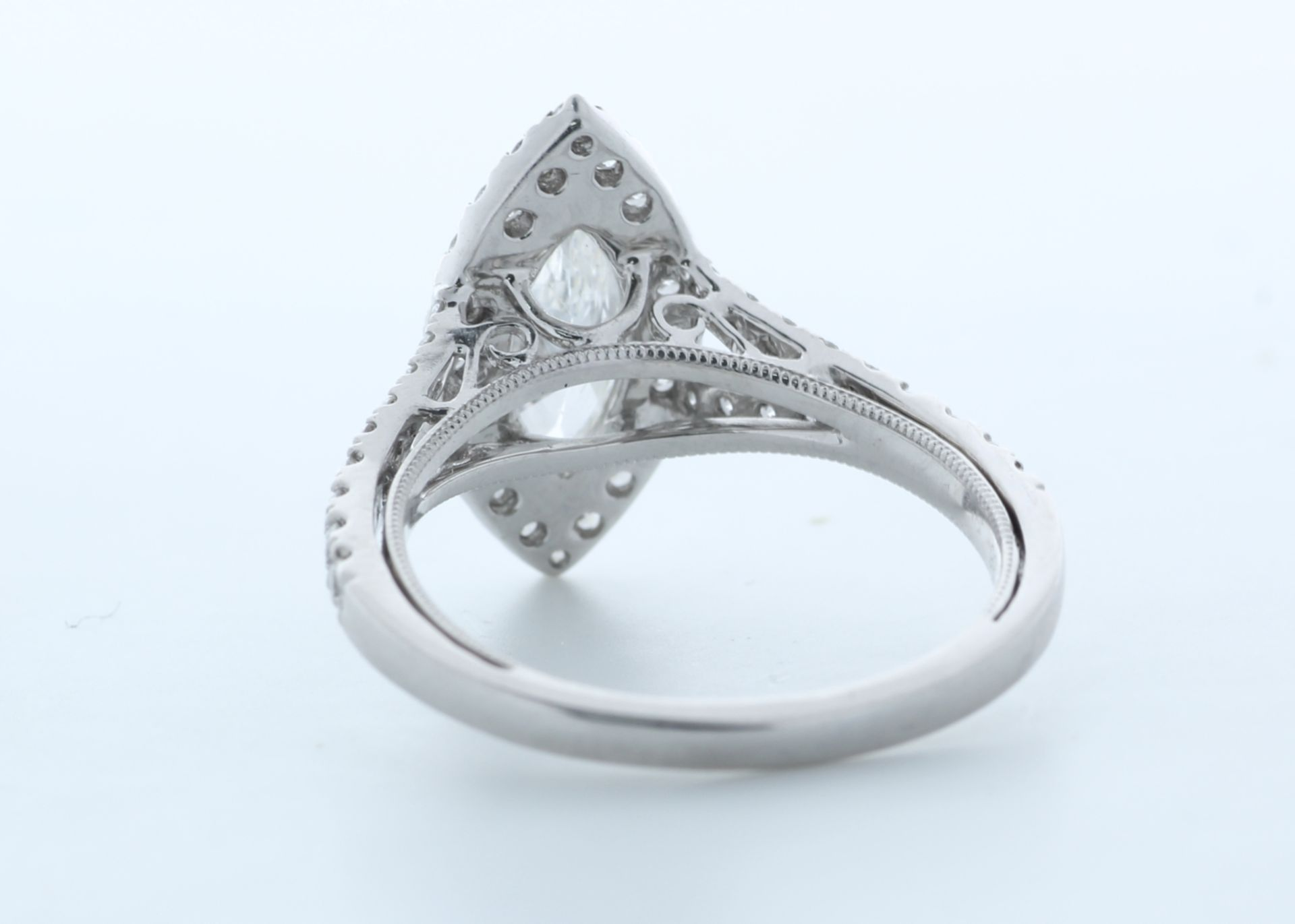 18ct White Gold Single Stone With Halo Setting Ring 1.56 (0.90) Carats - Valued by IDI £16,000. - Image 3 of 5