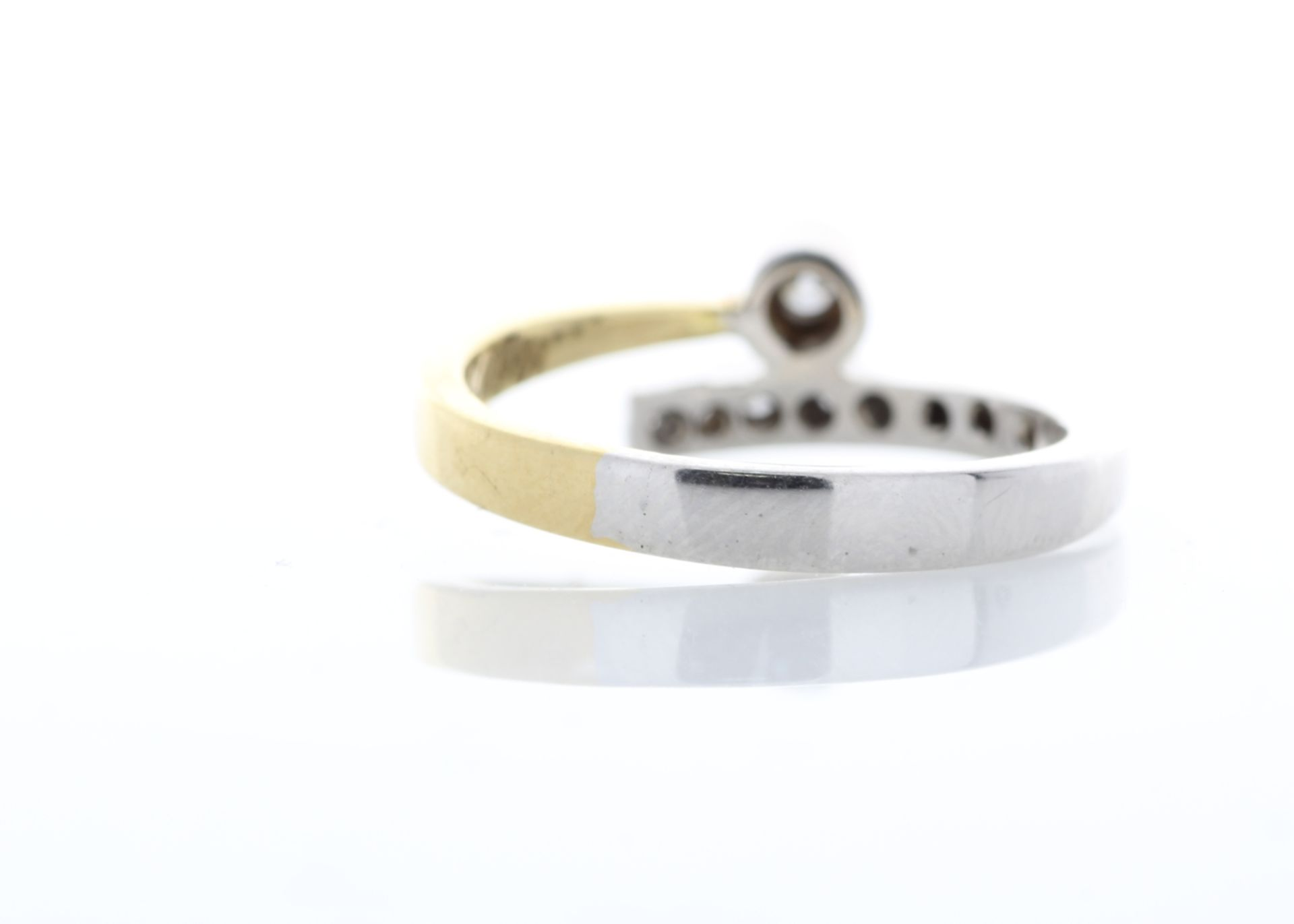 18ct Single Stone Rub Over With Stone Set Shoulders Diamond Ring 0.11 Carats - Valued by AGI £1, - Image 3 of 5