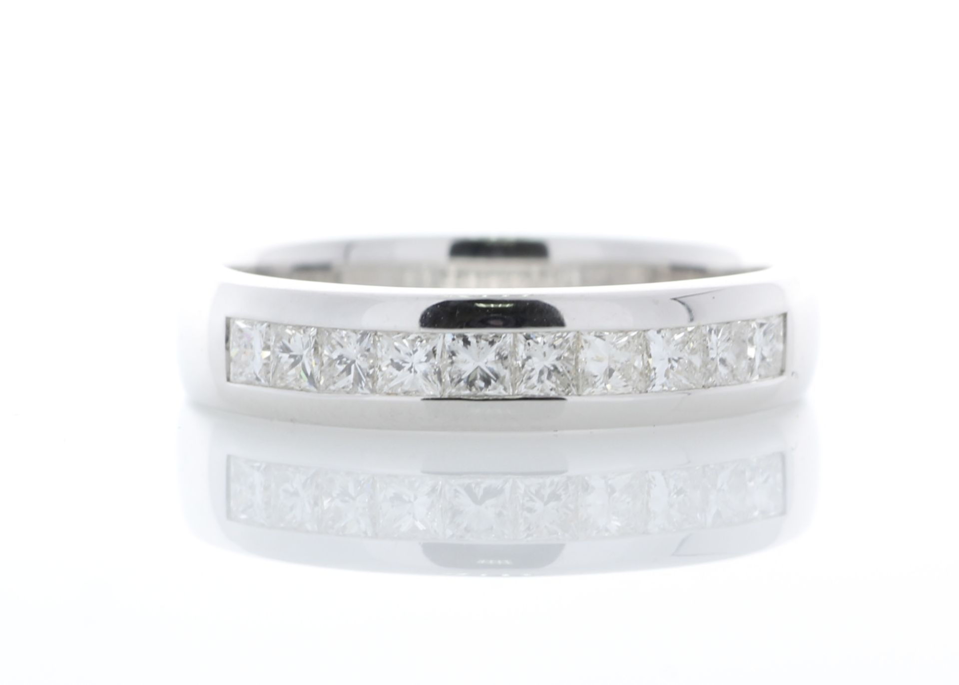 18ct White Gold Diamond Channel Set Half Eternity Ring 0.50 Carats - Valued by AGI £1,895.00 -