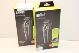 2X BOXED BRAUN BEARD TRIMMER 3 MODEL: BT3221 RRP £34.99 EACHCondition ReportAppraisal Available on