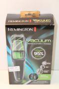 BOXED REMINGTON VACUUM BEARD & STUBBLE TRIMMER MODEL: MB6850 RRP £35.99Condition ReportAppraisal