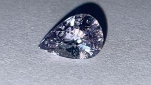 1.02ct Sapphire- Heated stone, SI1, Light Purple