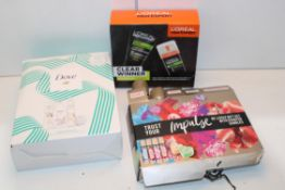 3X BOXED ASSORTED GIFT SETS BY IMPULSE, L'OREAL & DOVE Condition ReportAppraisal Available on
