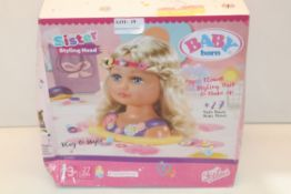 BOXED BABY BORN SISTER STYLING HEAD Condition ReportAppraisal Available on Request- All Items are