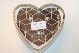 JUNIPER SAGE HEART SHAPED CANDLE Condition ReportAppraisal Available on Request- All Items are
