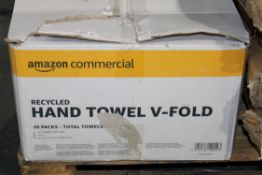 BOXED AMAZON COMMERCIAL HAND V-FOLD TOWELLSCondition ReportAppraisal Available on Request- All Items