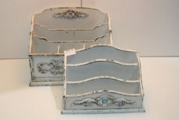 2X UNBOXED WOODEN LETTER RACKS Condition Report Appraisal Available on Request- All Items are