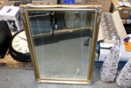 FRAMED BEVELLED EDGE MIRROR LARGE Condition Report Appraisal Available on Request- All Items are