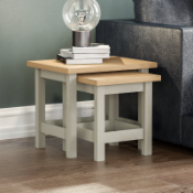 BOXED ARLINGTON NEXT OF TABLES GREY/OAK RRP £45 (925)Condition ReportAppraisal Available on Request-