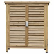 BOXED 2.8FT FLAT WOODEN TOOL SHED RRP £149.99 (912)Condition ReportAppraisal Available on Request-