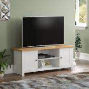 """BOXED MANKATO TV STAND FOR TV'S UP TO 60"""" IN WHITE RRP £99.99 (915)Condition ReportAppraisal"""