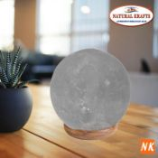 BOXED GREY HIMALYAN SALT NATURAL SHAPE LAMP BALL RRP £32.99 (922)Condition ReportAppraisal Available