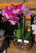 UNBOXED FAUX LILY IN SILVER POT Condition ReportAppraisal Available on Request- All Items are