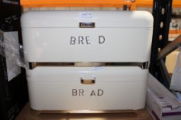 2X UNBOXED KITCHENCRAFT BREAD BINS Condition ReportAppraisal Available on Request- All Items are