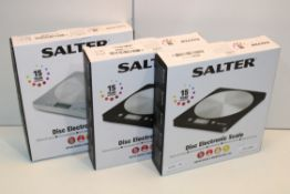 3X BOXED SALTER DISC ELECTRONIC SCALE COMBINED RRP £45.00Condition ReportAppraisal Available on