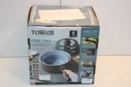 BOXED TOWER FREEDOM 7 PIECE NON-STICK COOKWARE SET RRP £44.99Condition ReportAppraisal Available