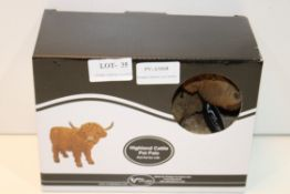 BOXED HIGHLAND CATTLE PET PALS Condition ReportAppraisal Available on Request- All Items are