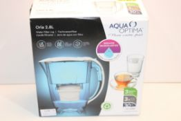 BOXED AQUA OPTIMA ORIA 2.8L WATER FILTER JUG RRP £29.99Condition ReportAppraisal Available on