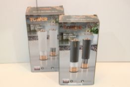 2X BOXED TOWER ROSE GOLD EDITION ELECTRONIC SALT & PEPPER MILL SETS COMBINED RRP £60.00Condition