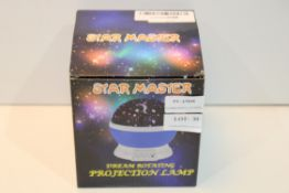 BOXED STAR MASTER DREAM ROTATING PROJECTION LAMP Condition ReportAppraisal Available on Request- All