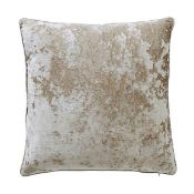 UNBOXED PAOLETTI BROWN CRUSH VELVET CUSHIONS X 3 COMBINED RRP £30Condition ReportAppraisal Available