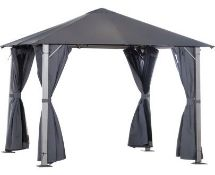 BAGGED OUTSUNNY LAURINE ASTEEL PATIO GAZEBO RRP £449 Condition Report(OPENED BOX AND BAG CAN NOT