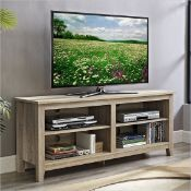 """BOXED 58"""" ESSENTIAL WOODNTV CONSOLE - NATURAL RRP £220Condition ReportAppraisal Available on"""
